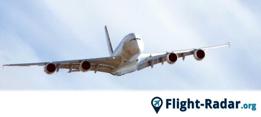 Un avión que puede ser seguido por el Flightradar24