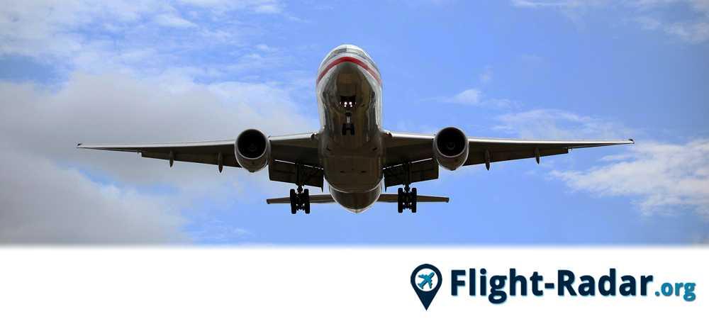 Un avion qui peut être suivi via flightradar24