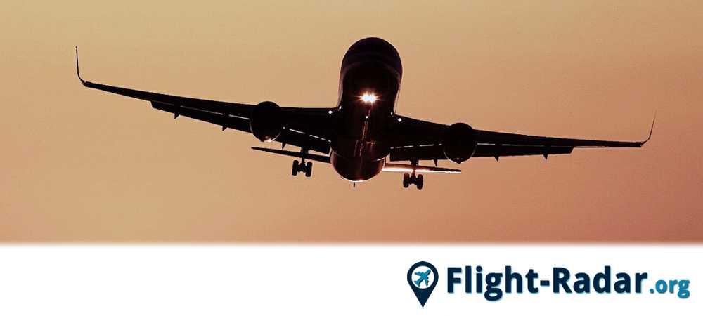 Sebuah pesawat yang bisa diikuti oleh flightradar24